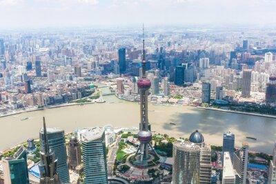 Fototapet stadsbild av Shanghai