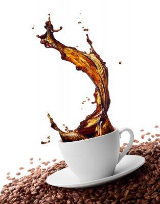 Fototapet stänk kaffe