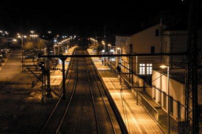 Fototapet Station på natten