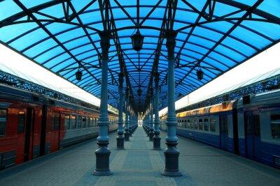 Fototapet Stazione ferroviaria Jaroslavskij