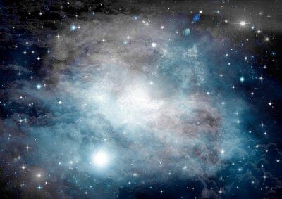 Fototapet Stjärnor, stoft och gas nebulosa