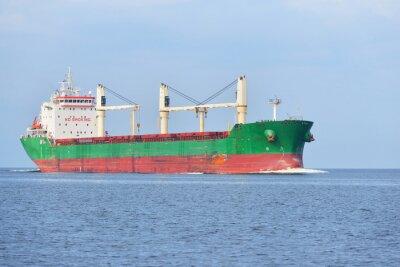 Fototapet Stor lastfartyg (Bulkfartyg) framförs i en solig dag. R