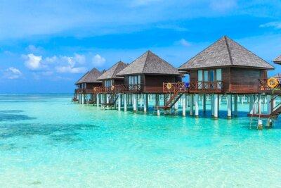 Fototapet strand med Maldiverna