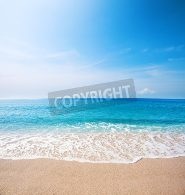 Fototapet Strand och vackert tropiskt hav