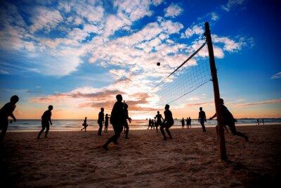 Fototapet strand volleyboll