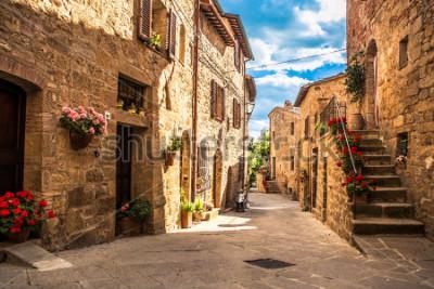 Fototapet streets of Italian city, Tuscany, Italy