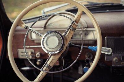 Fototapet styrning retro bil