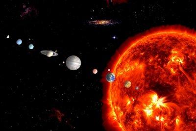 Fototapet Sun System, är Elements tillhandahållits av NASA