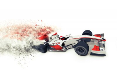 Fototapet Super 3D generisk racerbil