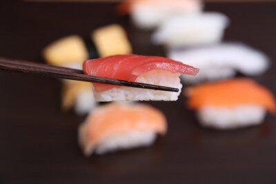 Fototapet sushi japansk mat