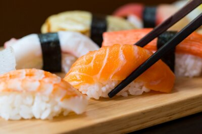 Fototapet Sushi set, japansk mat