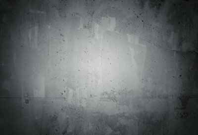 Fototapet Svart grunge ridit betongvägg konsistens
