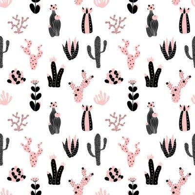 Fototapet svart och rosa mönster