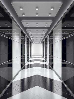 Fototapet Svart-vit korridor.
