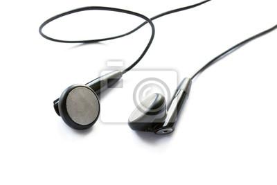 Svarta hörlurar Fototapet • Fototapeter garnering 9fa1a9d052a98