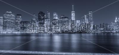 Fototapet Svartvit bild av New York City.