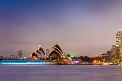 Fototapet SYDNEY - 12 oktober 2015: Den Iconic Sydney Opera House är en mu