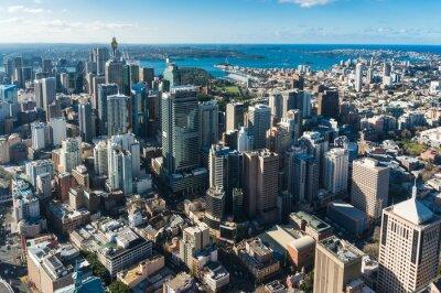 Fototapet Sydney centrala affärsdistrikt från luften