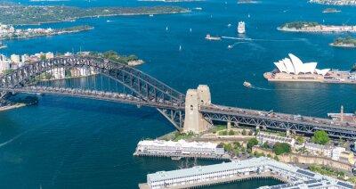Fototapet Sydney Harbour. Fantastisk Flygfoto på en solig dag