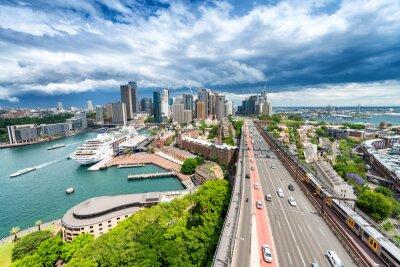 Fototapet SYDNEY - NOVEMBER 7, 2015: panoramautsikt över staden. Sydney lockar