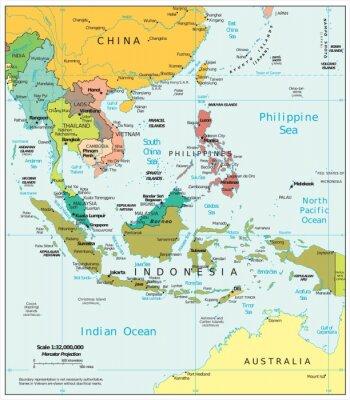 Fototapet Sydostasien politiska motsättningar