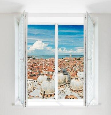 Fototapet tak i Florens sett genom fönstret