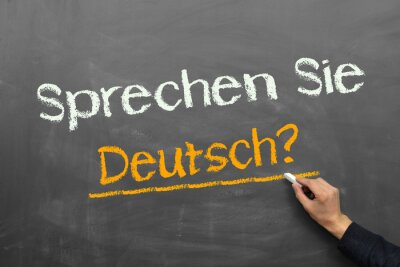 Fototapet Talar du tyska?
