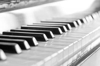 Fototapet Tangentbord piano.