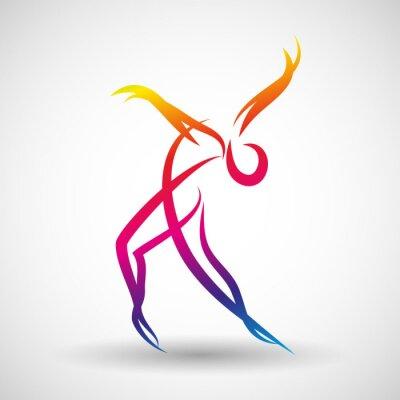 Fototapet taniec logo WEKTOR