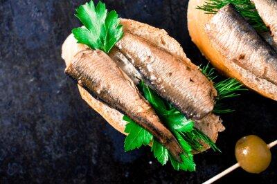 Fototapet Tapas med fisk