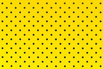 Fototapet tapet mönster svarta prickar i gul färg bakgrunden