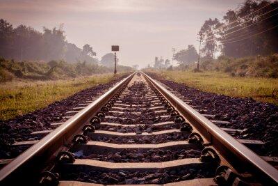 Fototapet tappning järnväg