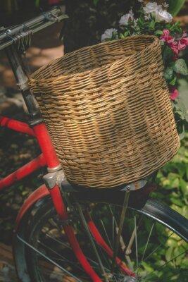 Fototapet Tappningcykel med Basket