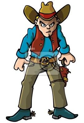 Tecknad Cowboy