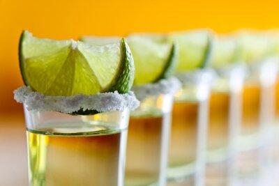 Fototapet tequila, lime och salt