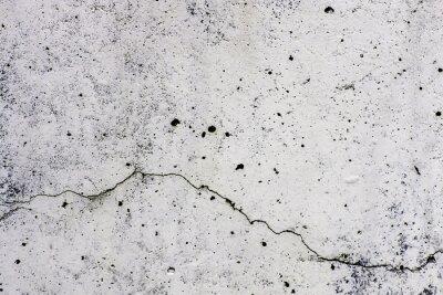 Fototapet Textur di sfondo di un muro i Cemento, con crepa che scorre orizzontalmente