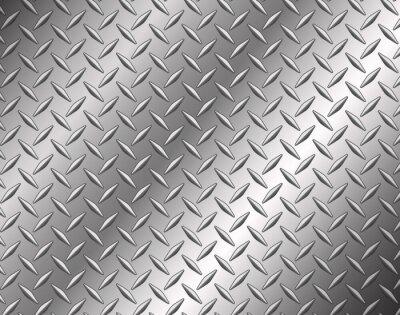 Fototapet The diamond steel metal texture background