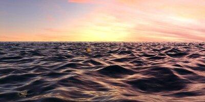 Fototapet Tidiga Sunrise Panorama över Ocean Waves