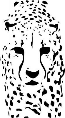 Fototapet tiger popkonst svart och vitt