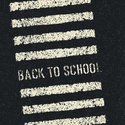 Fototapet Tillbaka till skolan. Trafiksäkerheten koncept. Vektor.