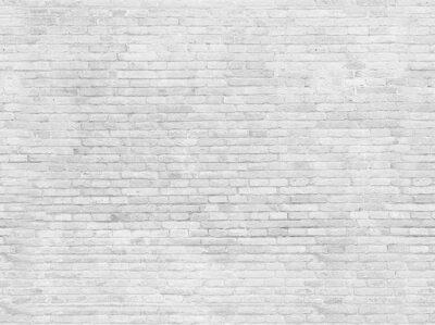 Fototapet Tom del av vitlackad tegelvägg.
