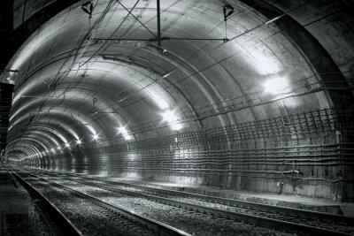 Fototapet Tom tunnelbanetunnel