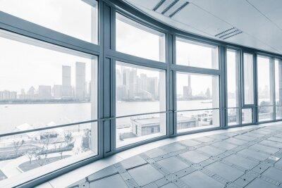 Fototapet tomt kontorsrum i moderna kontorsbyggnader