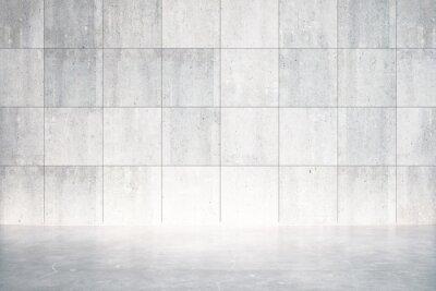 Fototapet Tomt rum med betonggolv och vägg