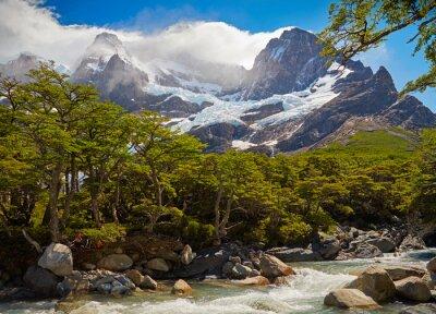 Fototapet Torres del Paine nationalpark. Patagonia, Chile
