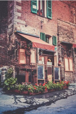 Fototapet toskansk restaurang