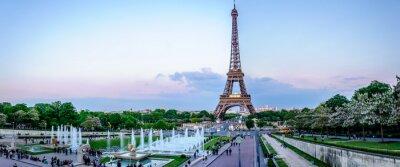 Fototapet Tour Eiffel au crépuscule