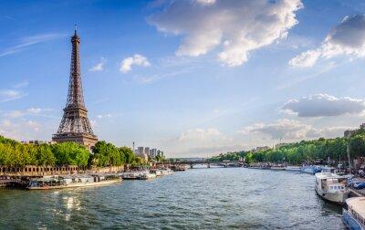 Fototapet Tour Eiffel et pont d'Iéna