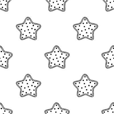 Fototapet Trä stjärnor mönster 2