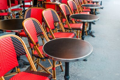 Fototapet traditionell parisisk kaffe
